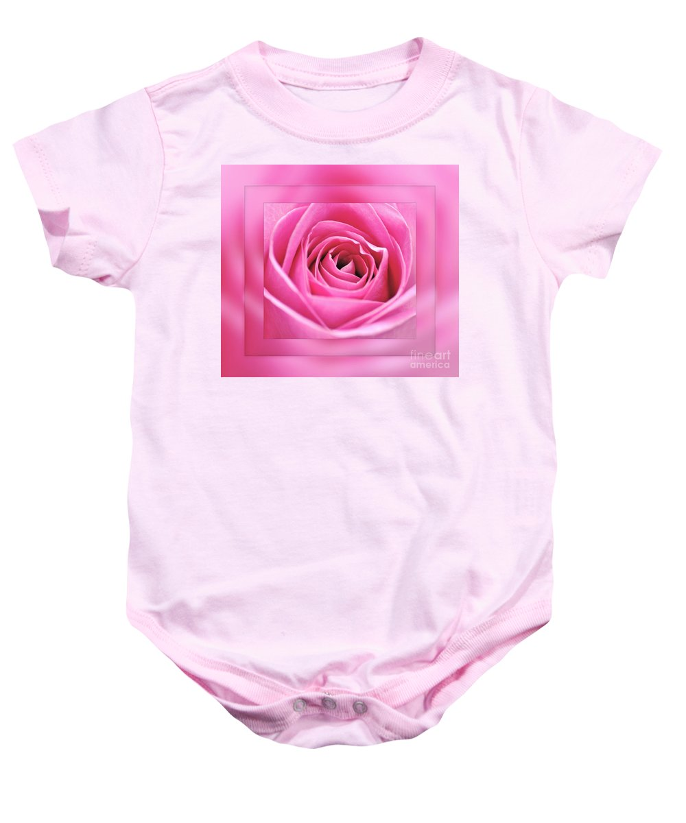 Photography Baby Onesie featuring the photograph Just Pink by Kaye Menner