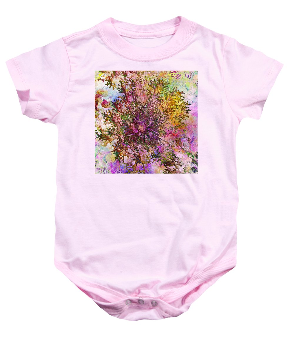 Lettuce Baby Onesie featuring the digital art Leafy Greens by Barbara Berney