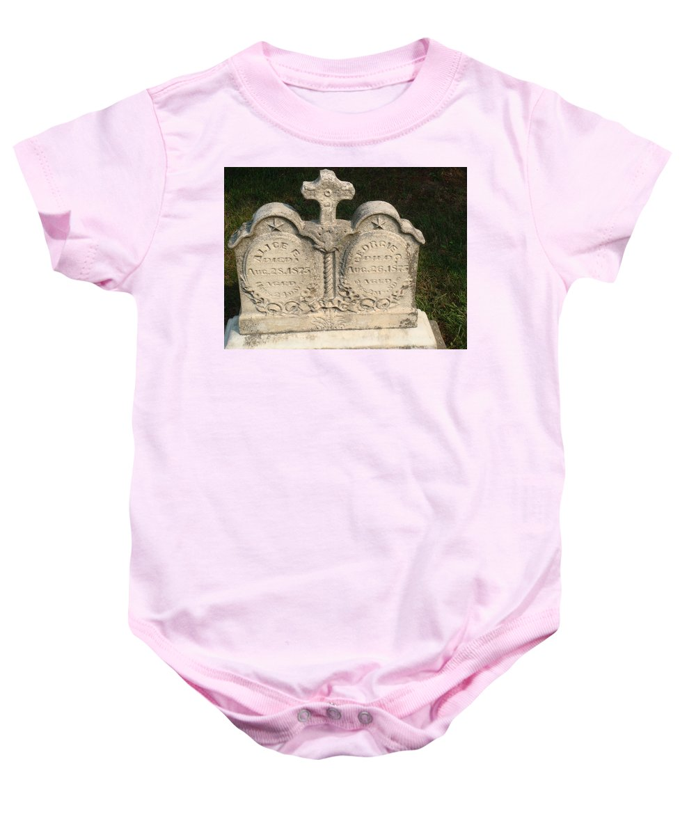 Cemetery Baby Onesie featuring the photograph Loss by Bonfire Photography