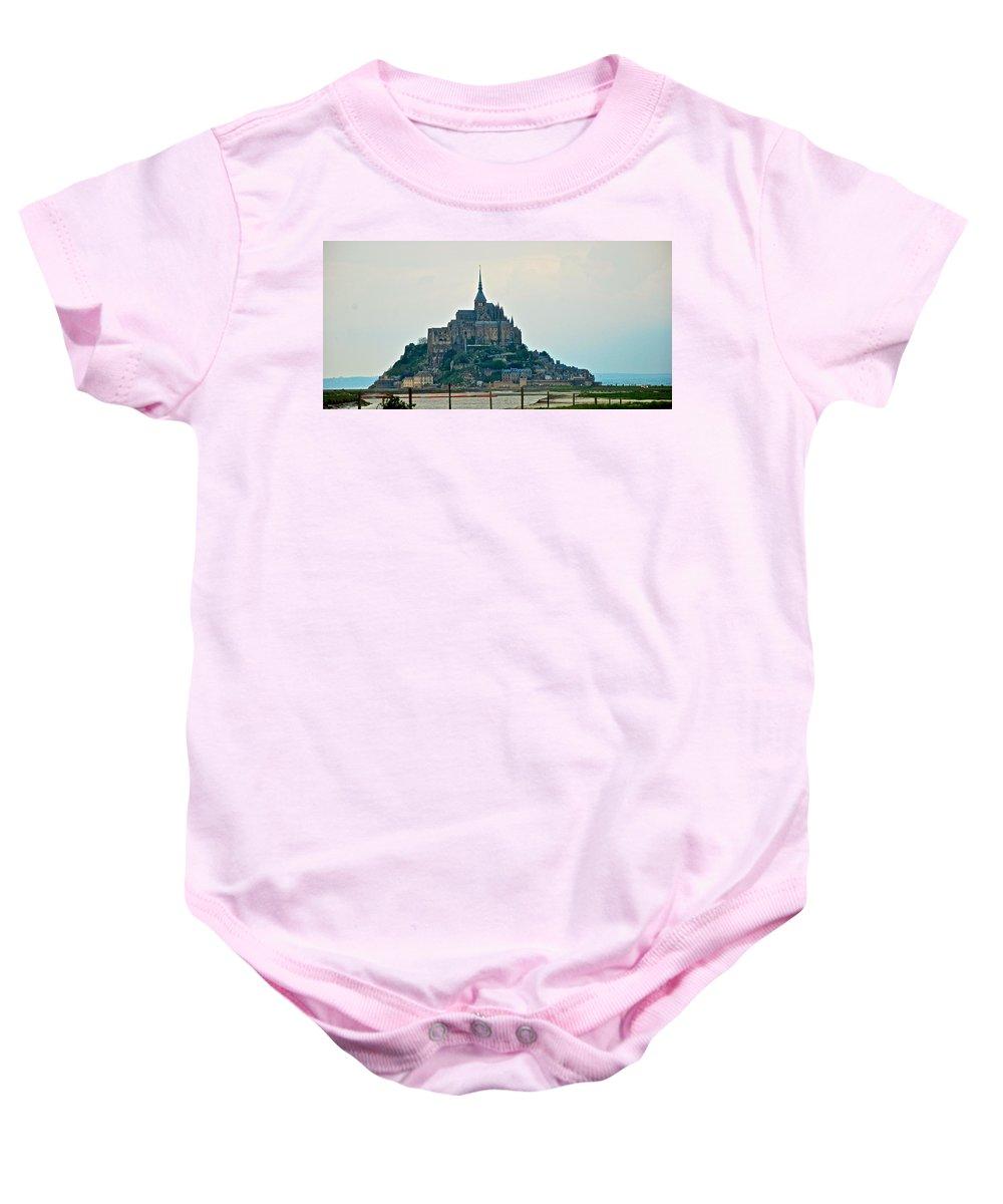 Mont St. Michel Baby Onesie featuring the photograph Medieval Wonder by Eric Tressler