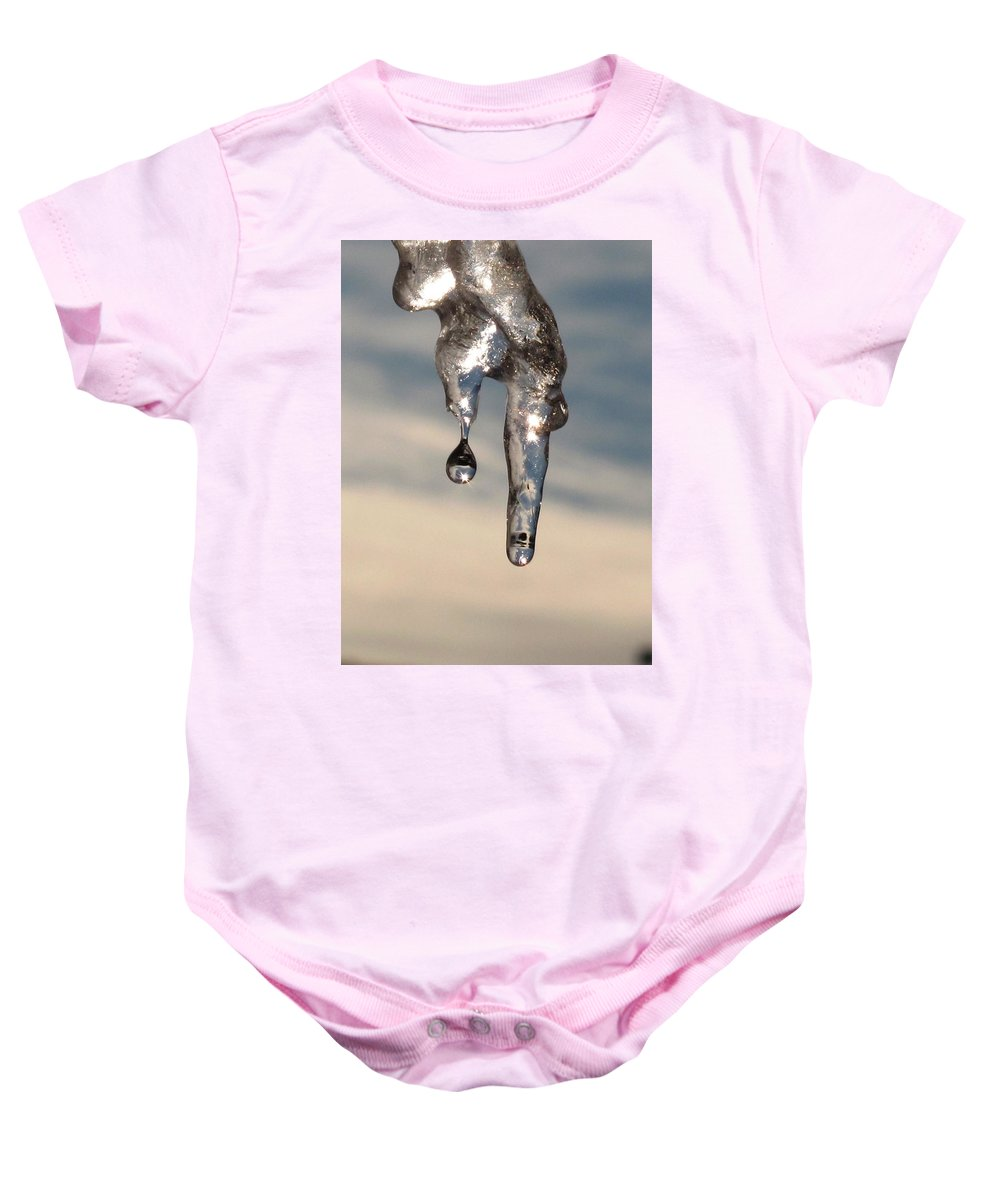 Ice Baby Onesie featuring the photograph Melting by Michele Nelson