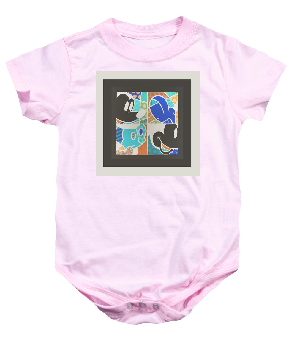 Mickey Mouse Baby Onesie featuring the photograph Mickey In Negative by Rob Hans