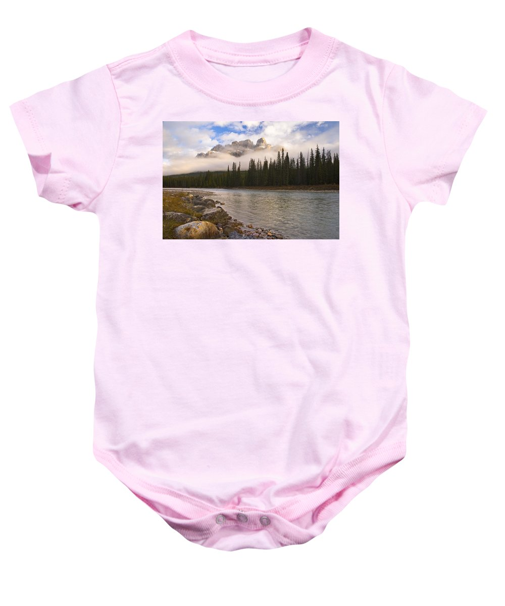 Banff National Park Baby Onesie featuring the photograph Mountain Landscape by Philippe Widling