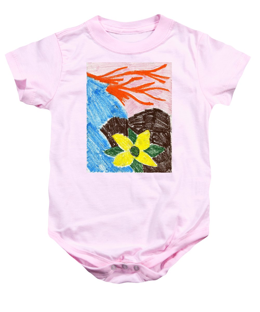 Mystic Flower Baby Onesie featuring the painting Mystic Flower by Taylor Webb