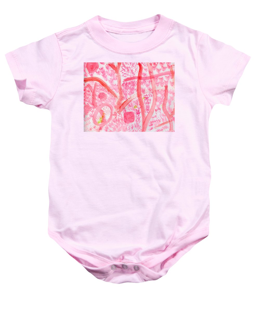 Naked Forest Baby Onesie featuring the painting Naked Forest by Taylor Webb