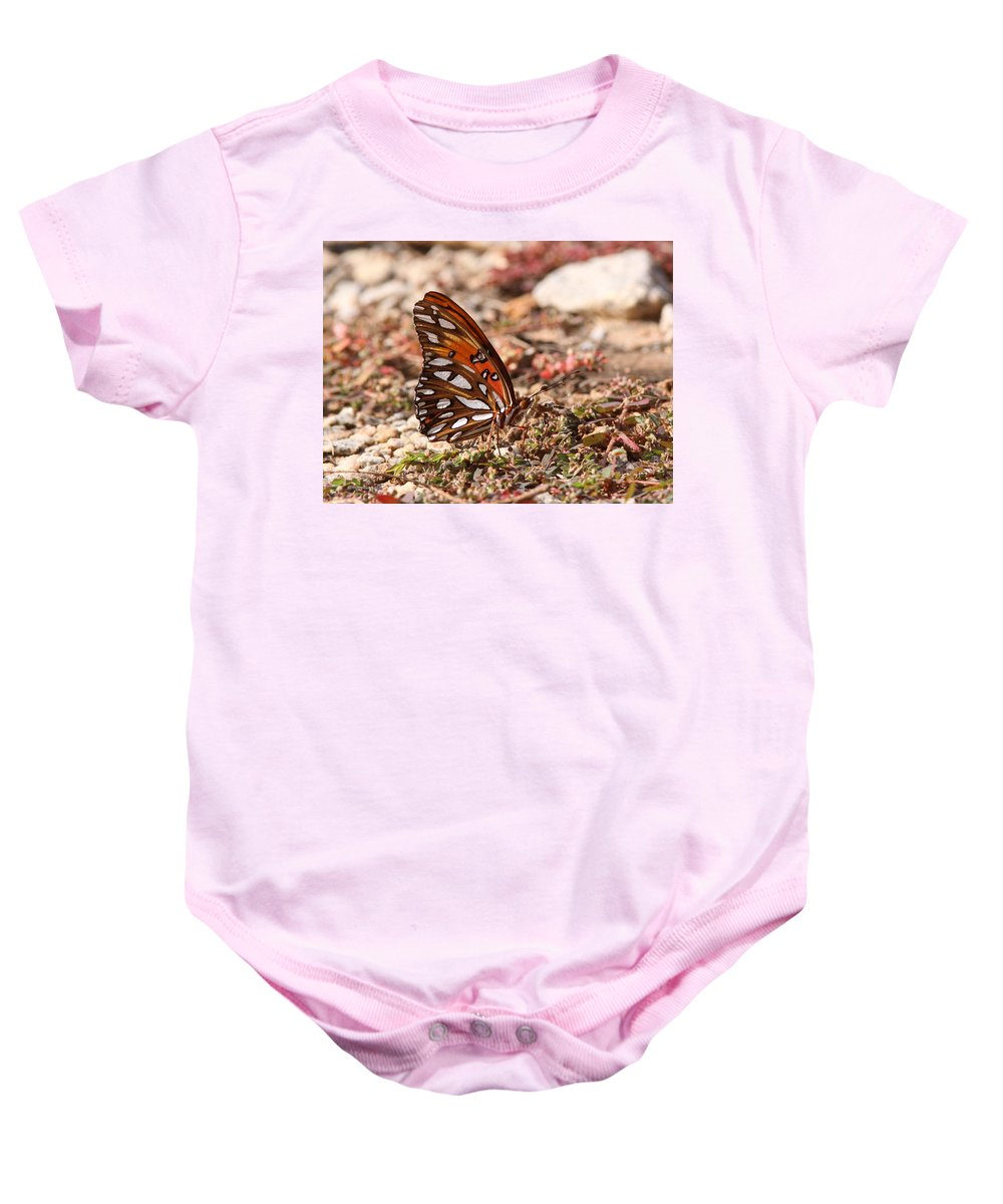 Gulf Fritillary Baby Onesie featuring the photograph Pretty And Wicked by Travis Truelove