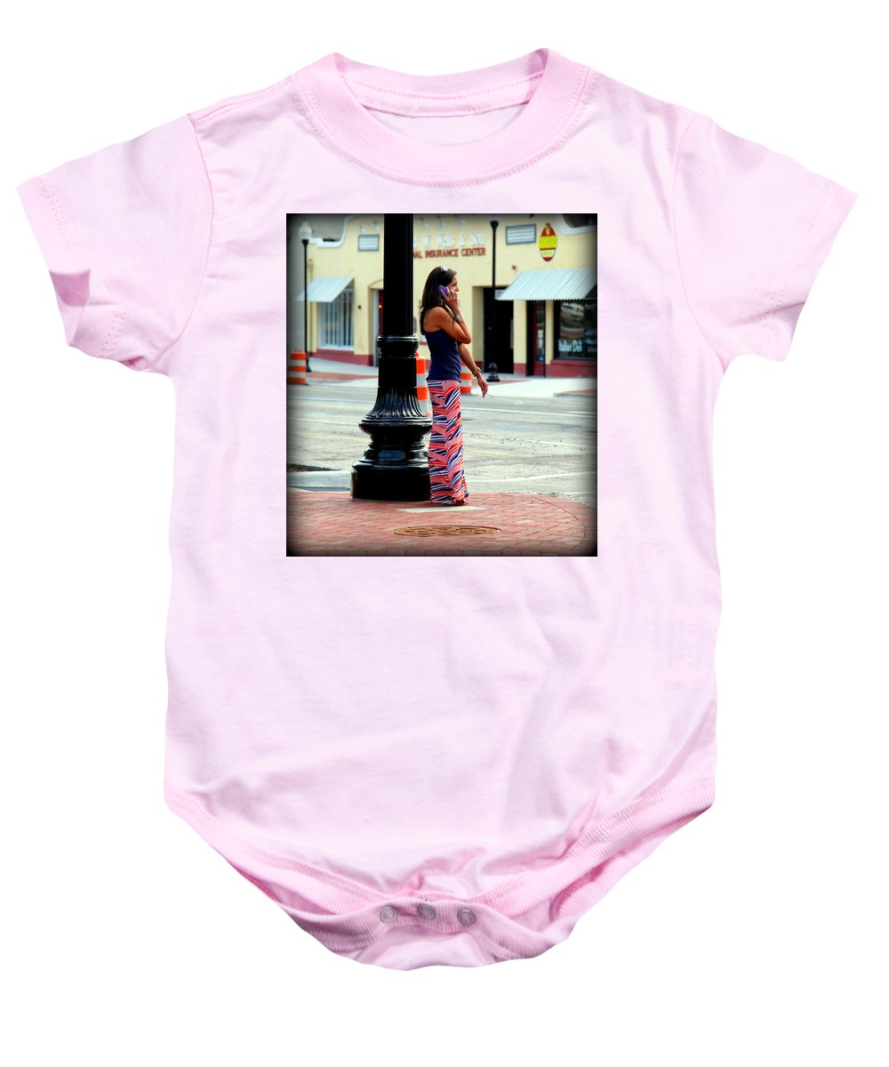 Pretty Woman Baby Onesie featuring the photograph Pretty Woman by Karen Wiles
