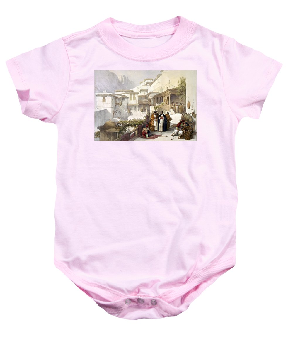 St. Catherine Baby Onesie featuring the photograph Principal Court Of The Convent Of St. Catherine by Munir Alawi
