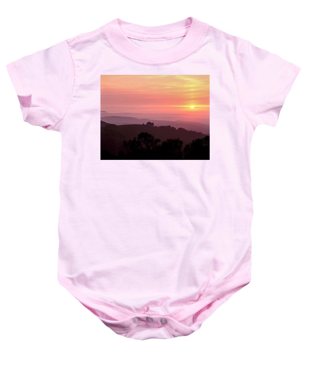 Pt. Reyes Baby Onesie featuring the photograph Pt. Reyes Sunset by Mike Penney