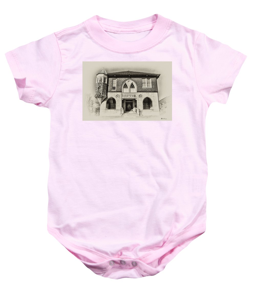 Bluebell Baby Onesie featuring the photograph Public School by Bill Cannon