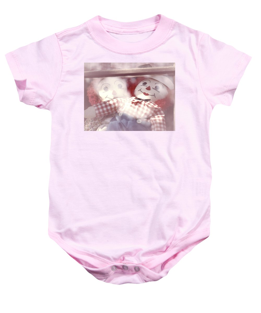 Dolls Baby Onesie featuring the photograph Raggedy Ann And Andy by Garry McMichael