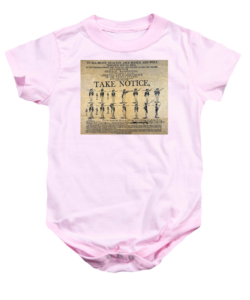1798 Baby Onesie featuring the photograph Recruiting Broadside, C1798 by Granger