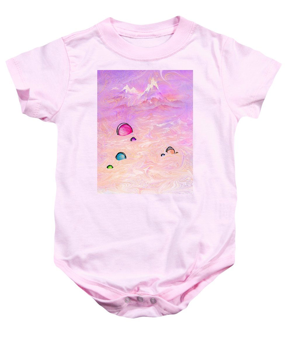 Landscape Baby Onesie featuring the digital art Resting Places by Rachel Christine Nowicki