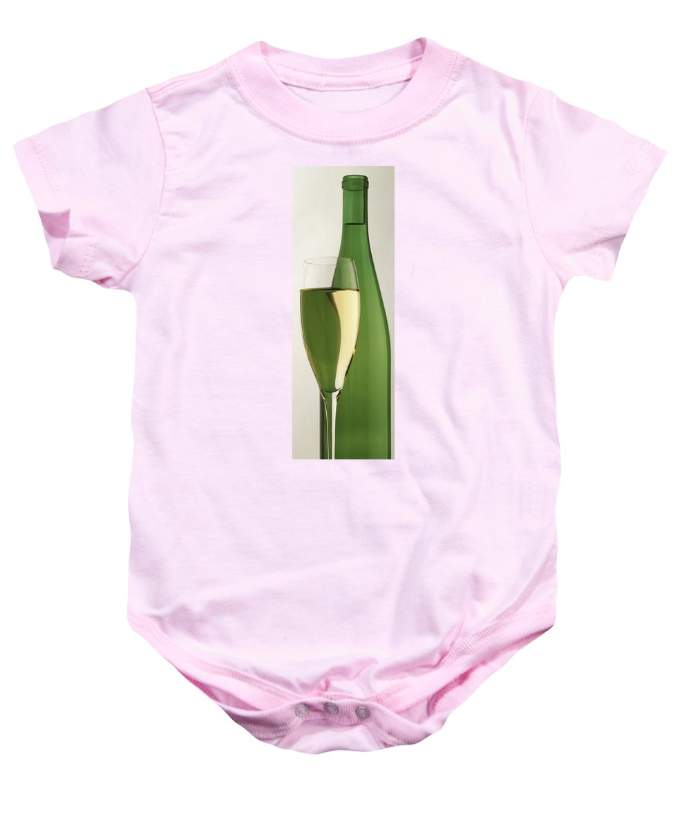 Wine Baby Onesie featuring the photograph Riesling by Garry McMichael