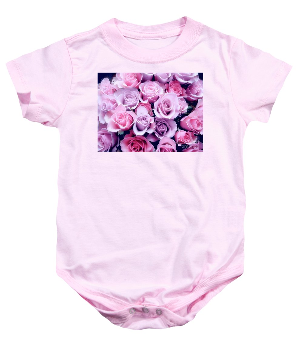 Rose Baby Onesie featuring the photograph Roses by Frances Hattier