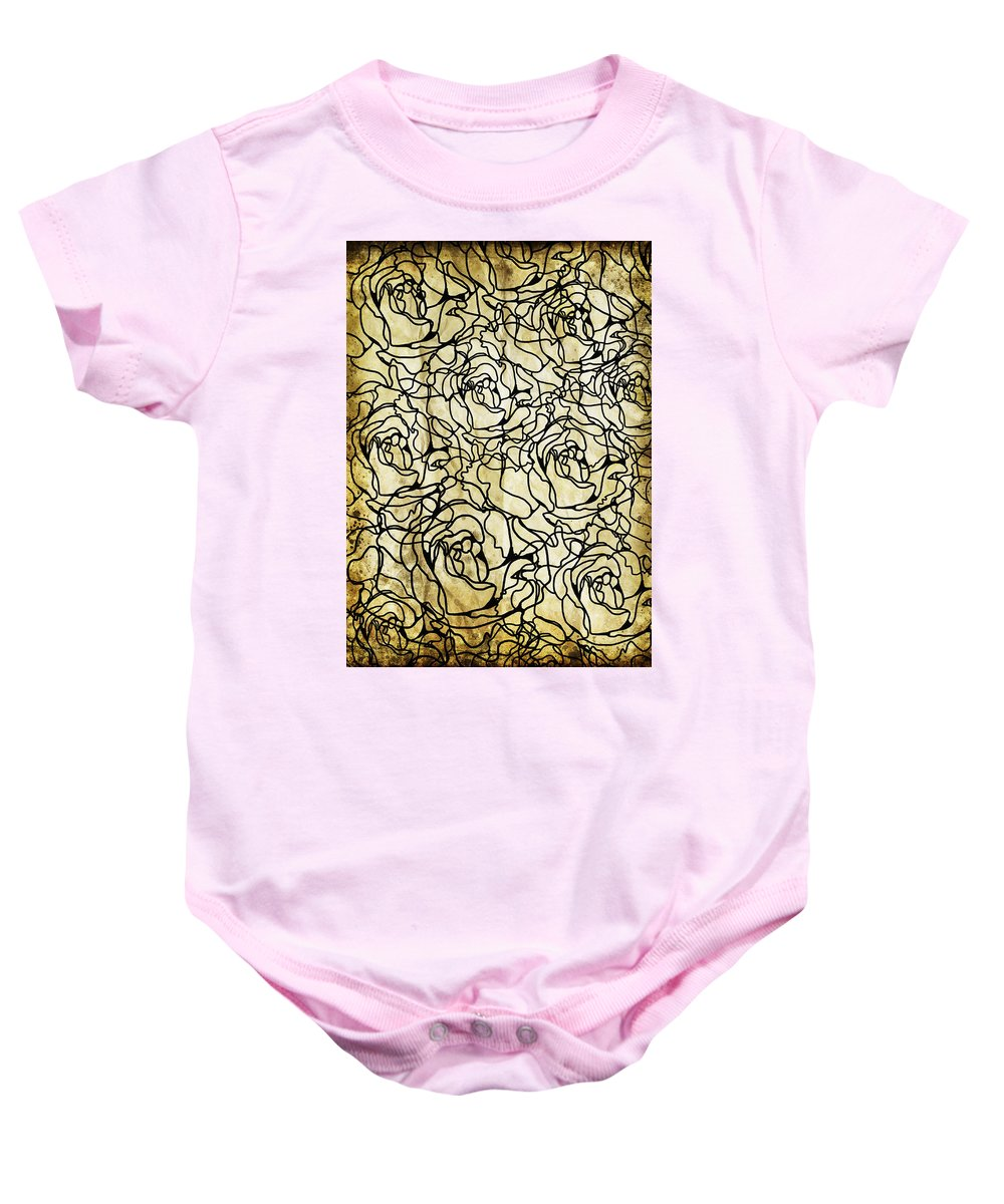 Abstract Baby Onesie featuring the photograph Roses Pattern by Setsiri Silapasuwanchai