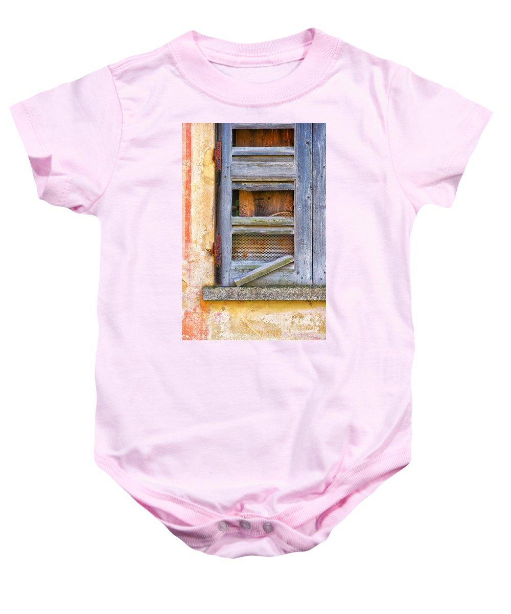 Shutter Baby Onesie featuring the photograph Rotten Shutter by Silvia Ganora