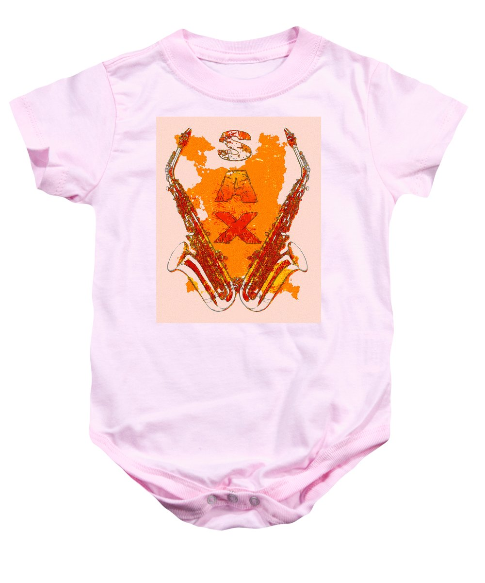 Sax Baby Onesie featuring the photograph Sax by David G Paul