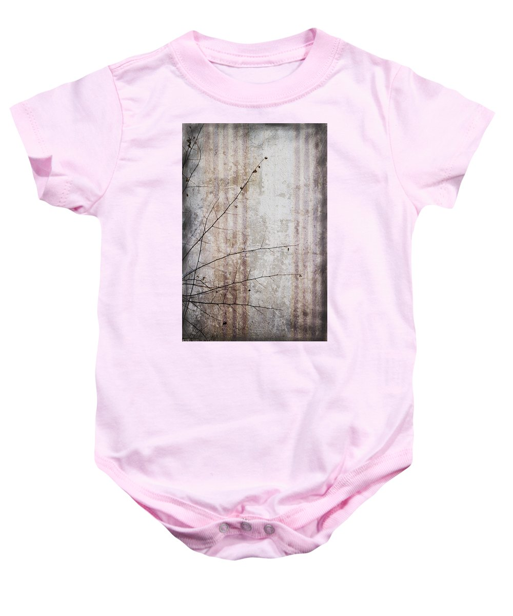 Grunge Baby Onesie featuring the photograph Simple Things Abstract by Kathy Clark