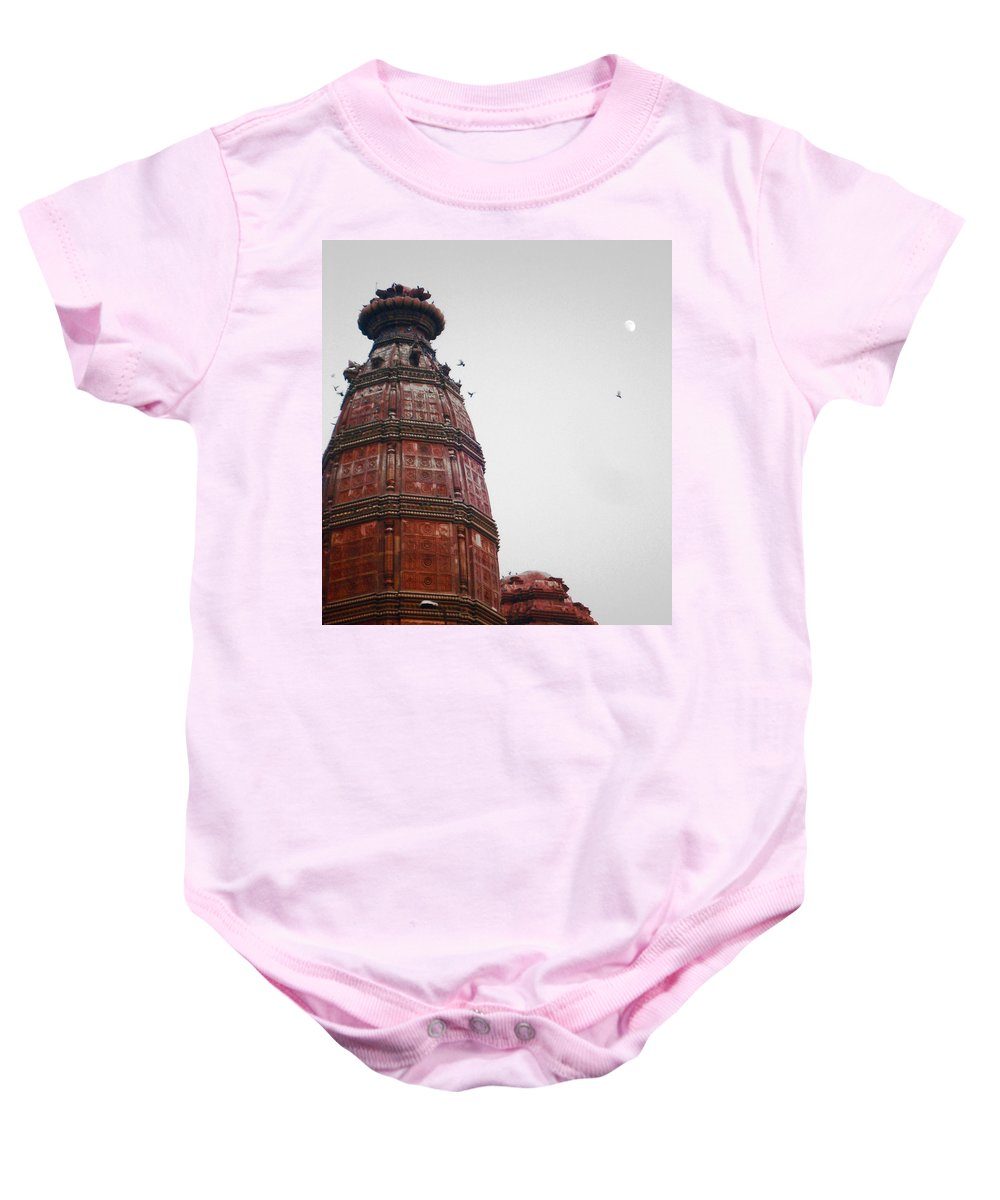 India Baby Onesie featuring the photograph Temple Rishikesh India by Sumit Mehndiratta