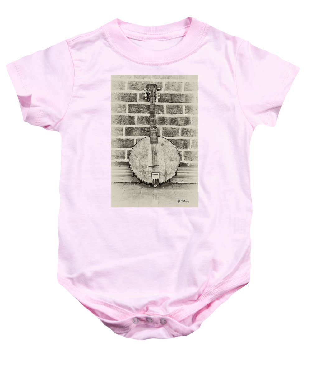 That Old Banjo Mandolin Baby Onesie featuring the photograph That Old Banjo Mandolin by Bill Cannon