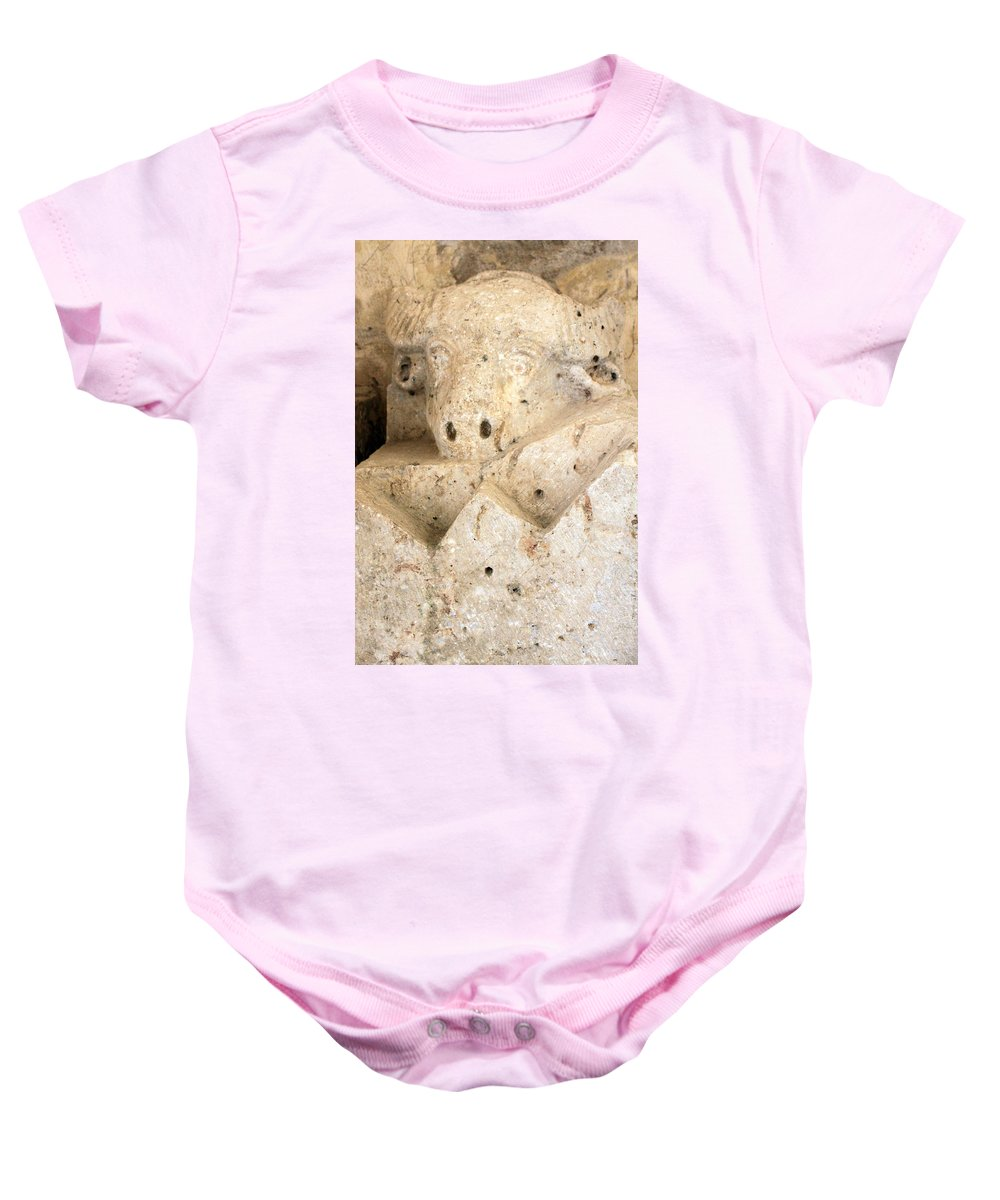 Roman Baby Onesie featuring the photograph The God Of Fertility by Munir Alawi