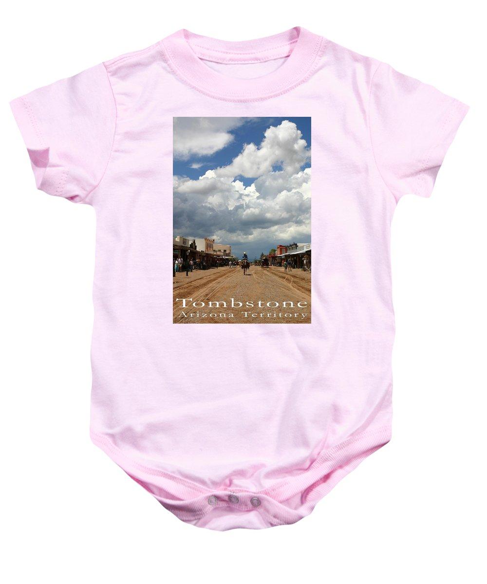 Arizona Baby Onesie featuring the photograph Tombstone by Joe Kozlowski