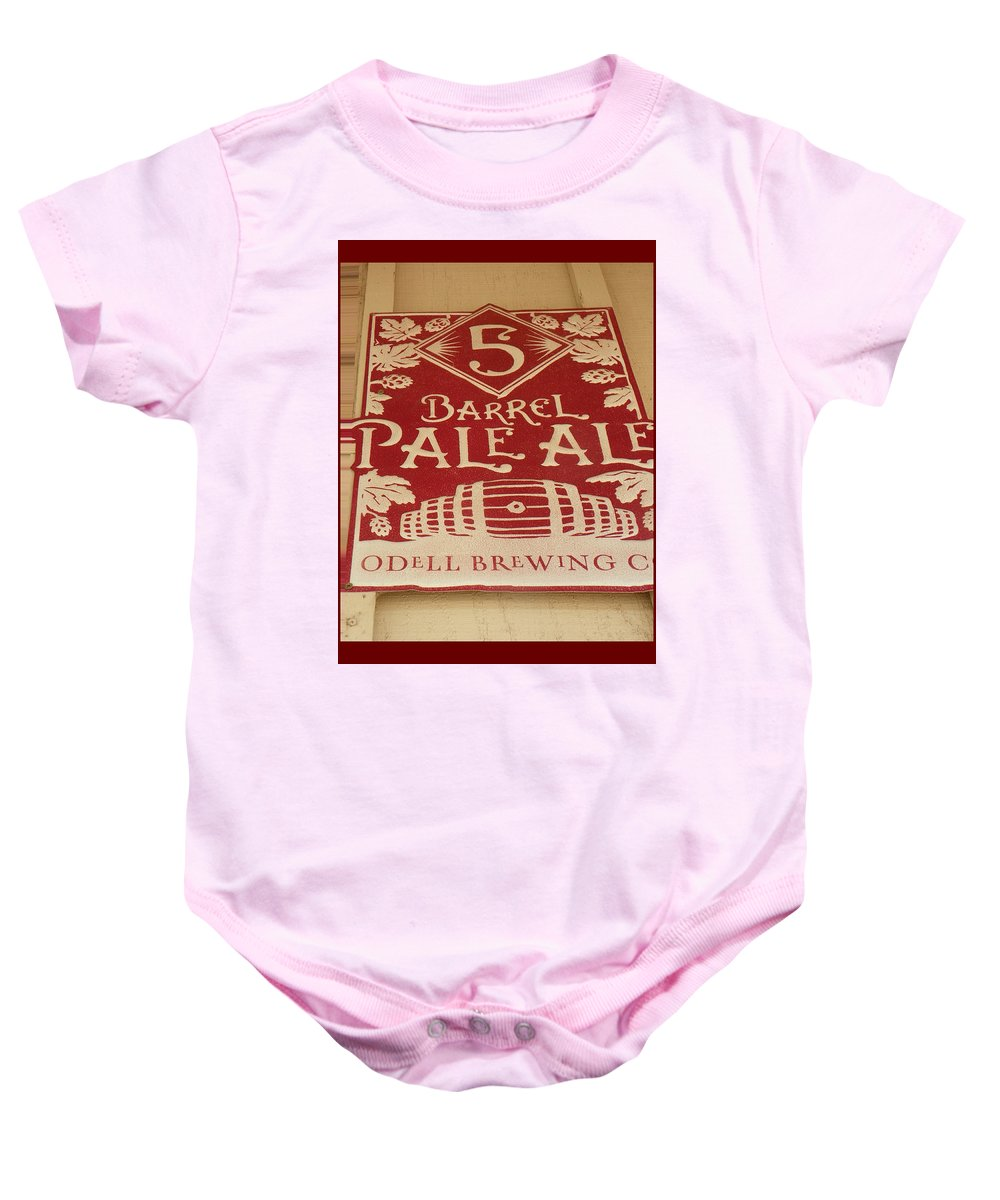 Expressive Baby Onesie featuring the photograph Vintage Sign by Lenore Senior
