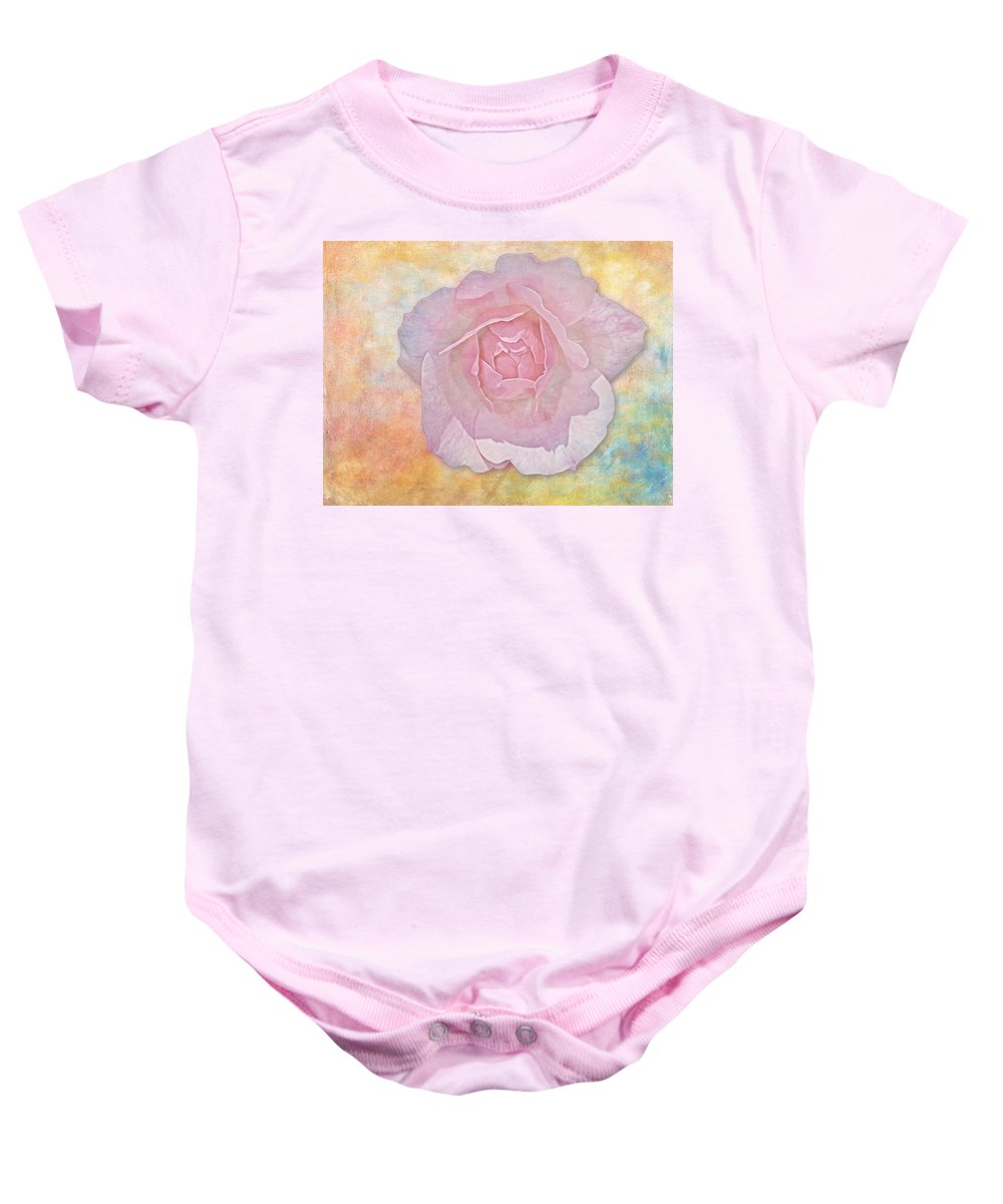 Rose Baby Onesie featuring the photograph Watercolor Rose by Susan Candelario