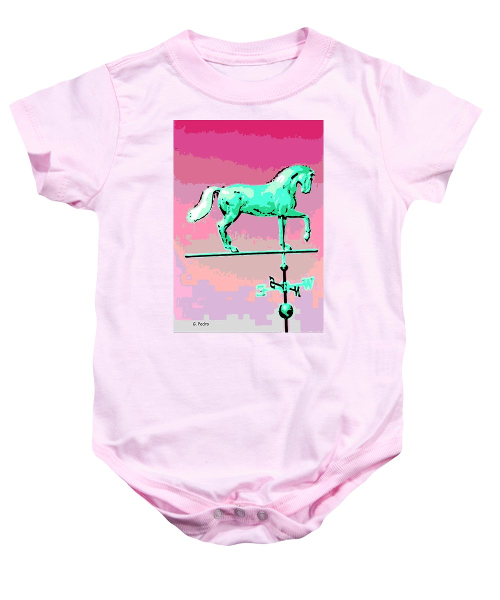 Horse Baby Onesie featuring the photograph Westward Ho by George Pedro