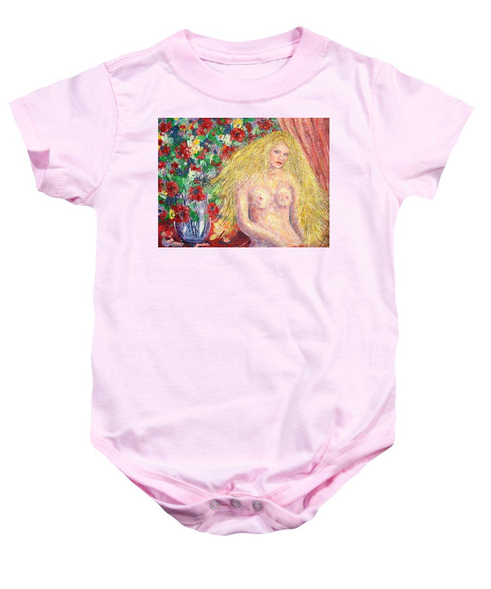 Nude Baby Onesie featuring the painting Nude Fantasy by Natalie Holland