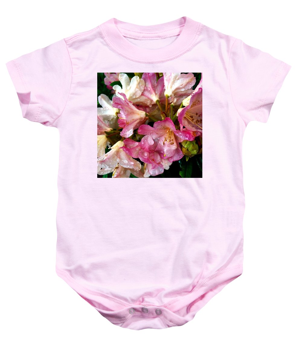 Flowers Baby Onesie featuring the photograph Rhododendron In Pink by Kat J