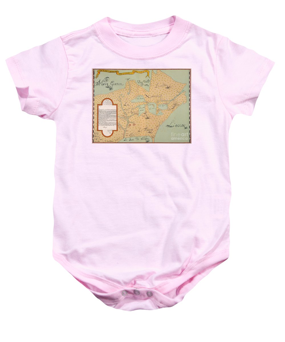 1674 Baby Onesie featuring the painting Jolliet: North America 1674 by Granger