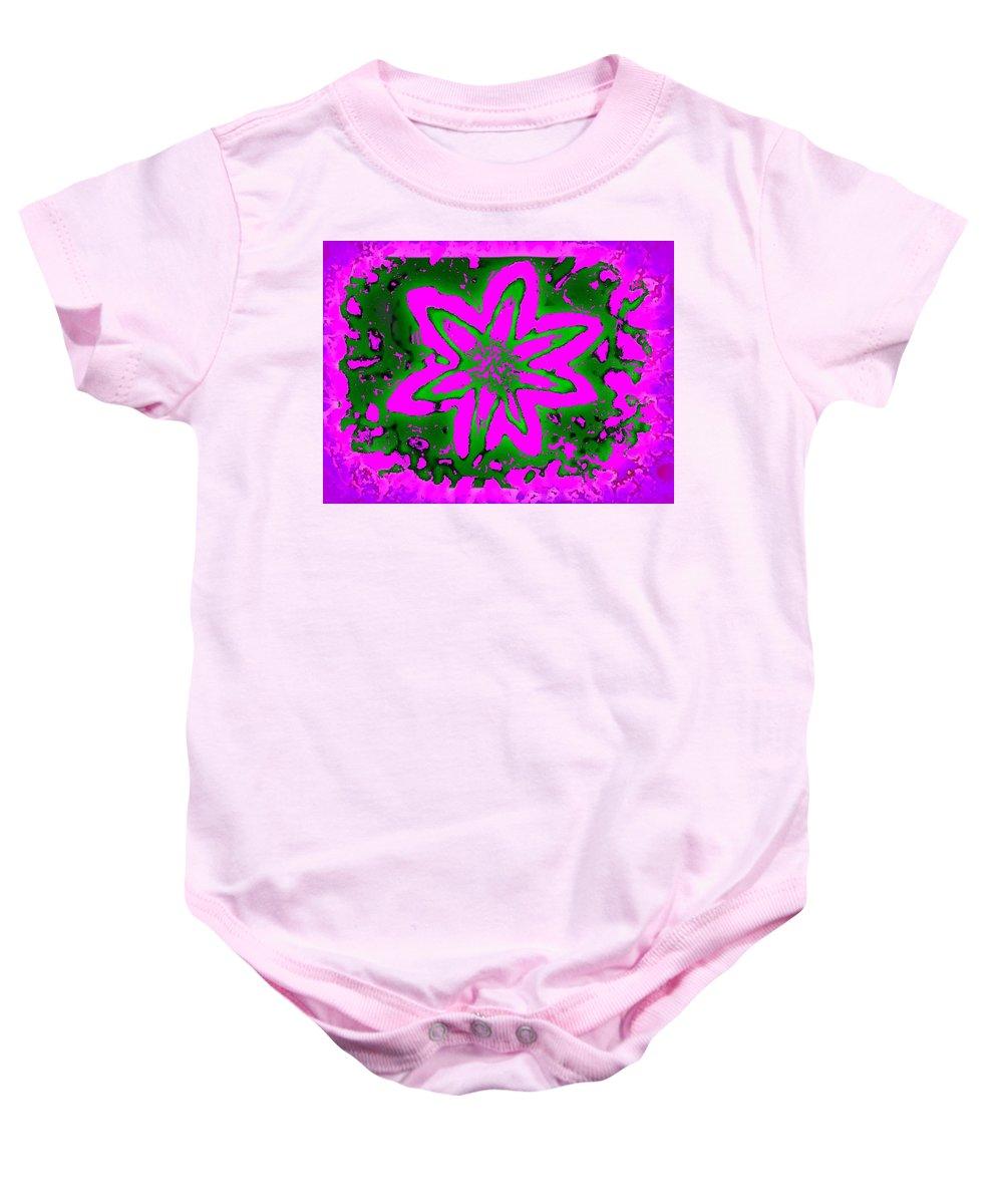 Digital Design Baby Onesie featuring the photograph Pretty In Pink by Art Speakman