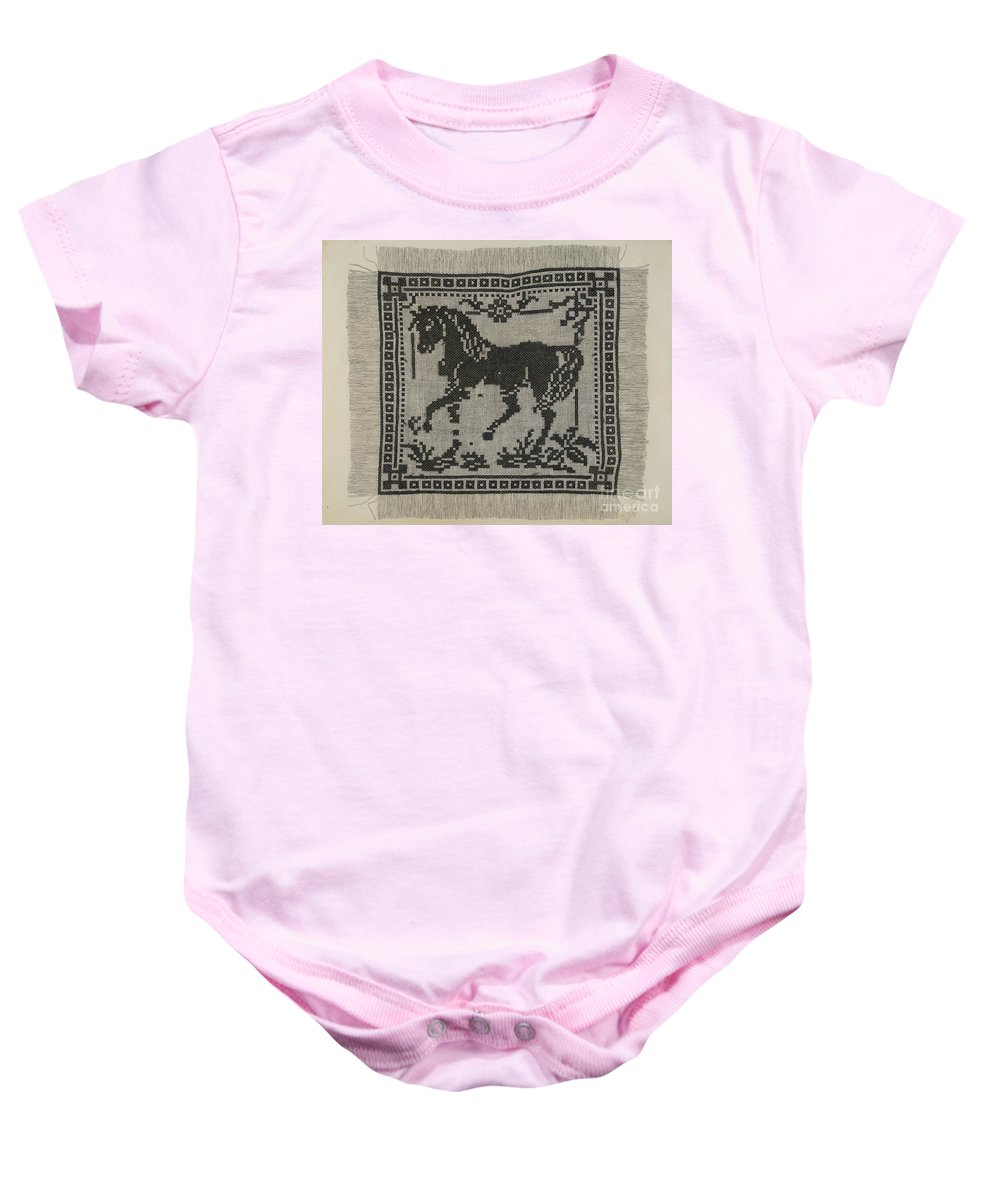 Baby Onesie featuring the drawing Sampler by Raymond Manupelli