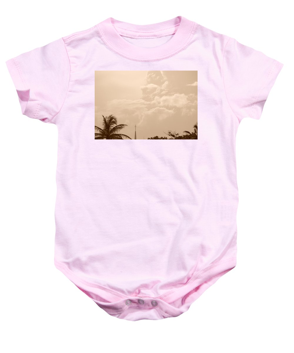 Sepia Baby Onesie featuring the photograph Sepia Sky by Rob Hans