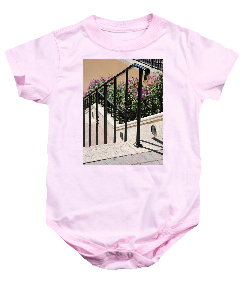 Stairs Baby Onesie featuring the photograph Stairs And Rails by Rob Hans
