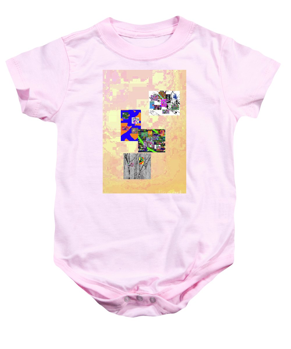 Walter Paul Bebirian Baby Onesie featuring the digital art 11-22-2015dabcdefghijklmnopqrtuvwxyzabcd by Walter Paul Bebirian