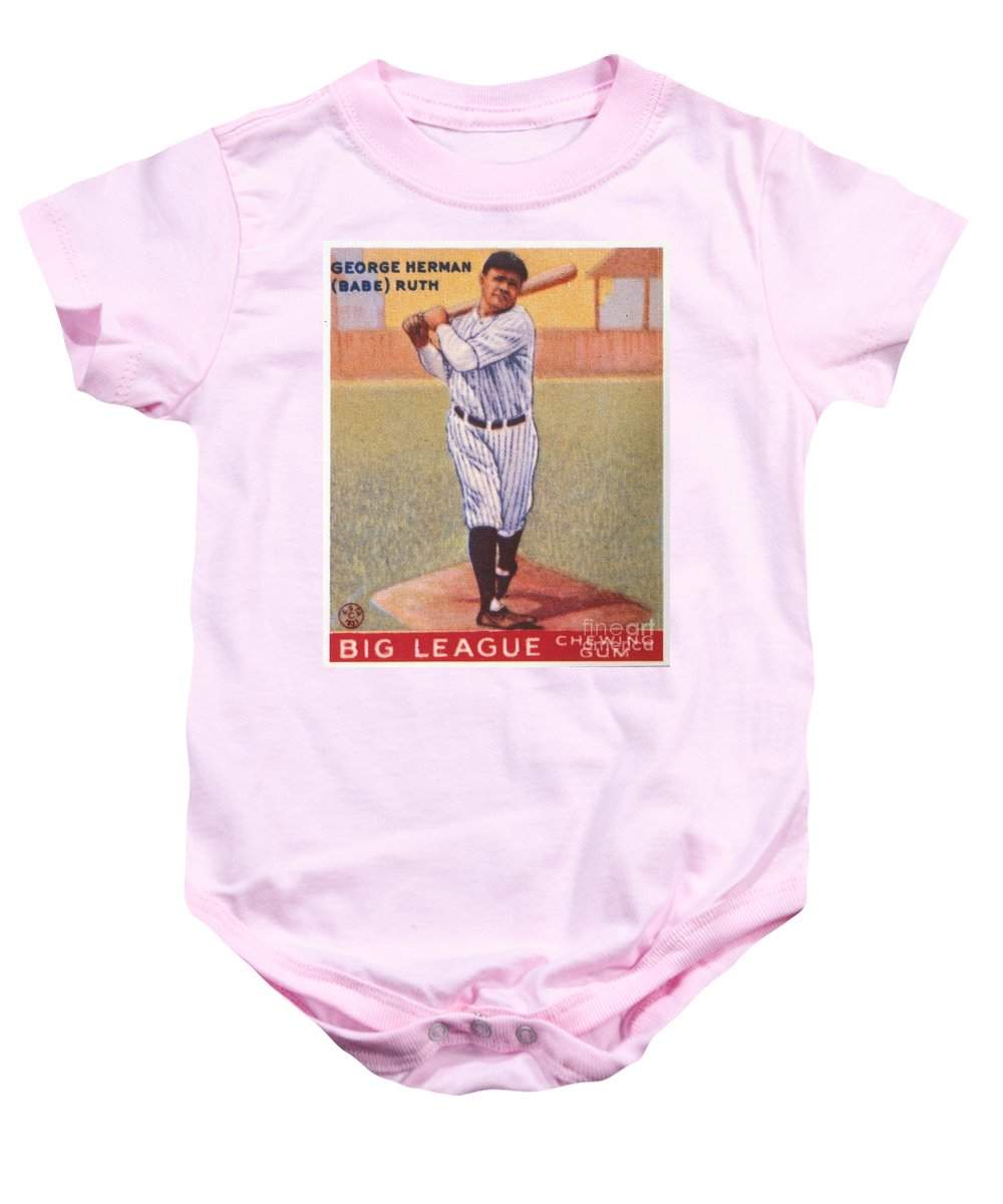 1933 Baby Onesie featuring the photograph Babe Ruth (1895-1948) by Granger
