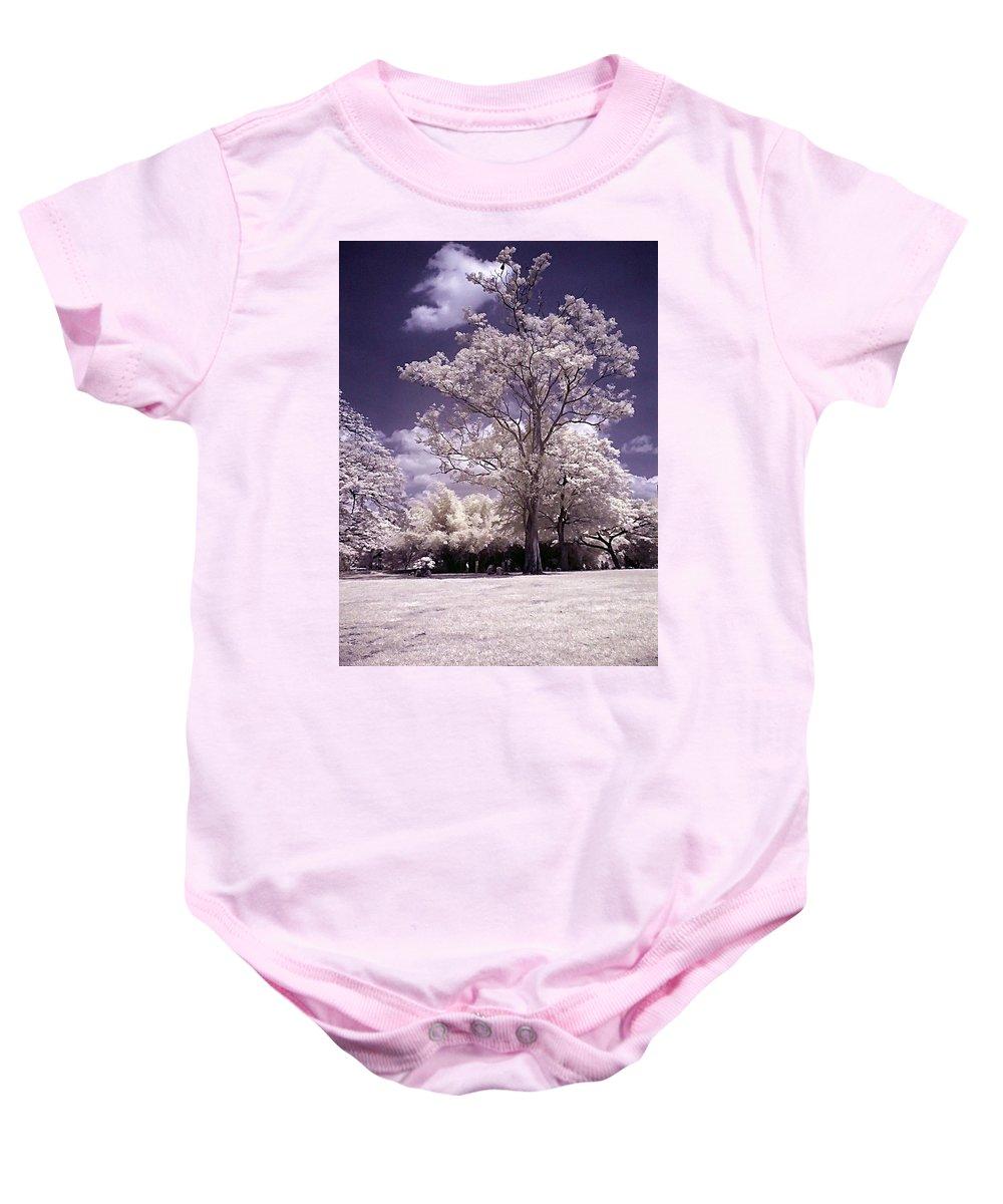 Infrared Baby Onesie featuring the photograph Magic Garden by Galeria Trompiz