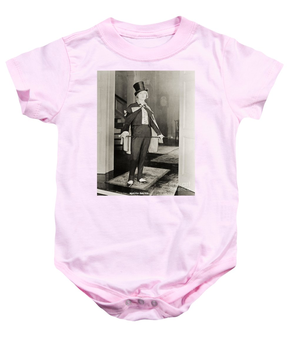 -women Single Figures- Baby Onesie featuring the photograph Silent Film Still by Granger