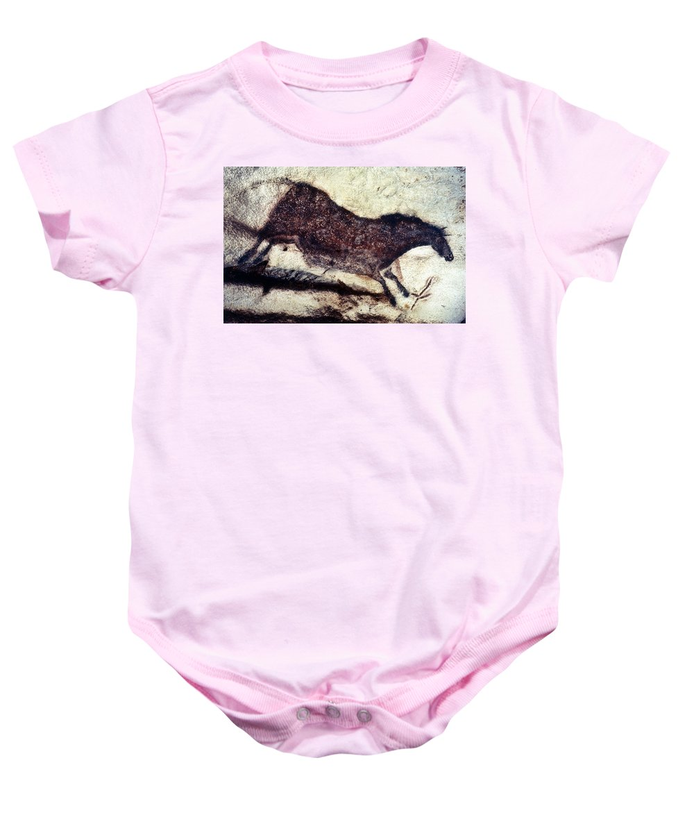 Cave Baby Onesie featuring the photograph Cave Art: Lascaux by Granger