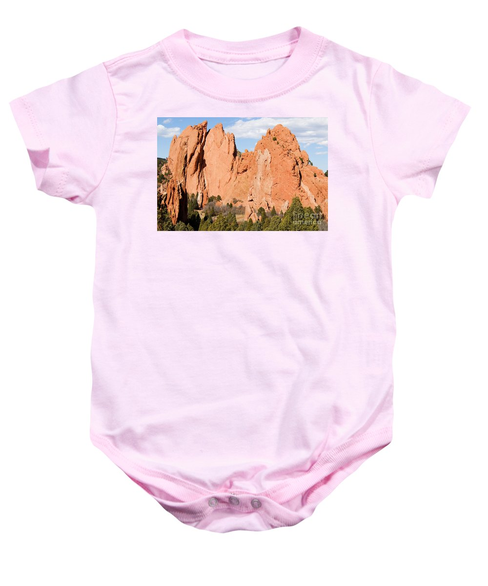 Garden Of The Gods Baby Onesie featuring the photograph Garden Of The Gods by Steve Krull