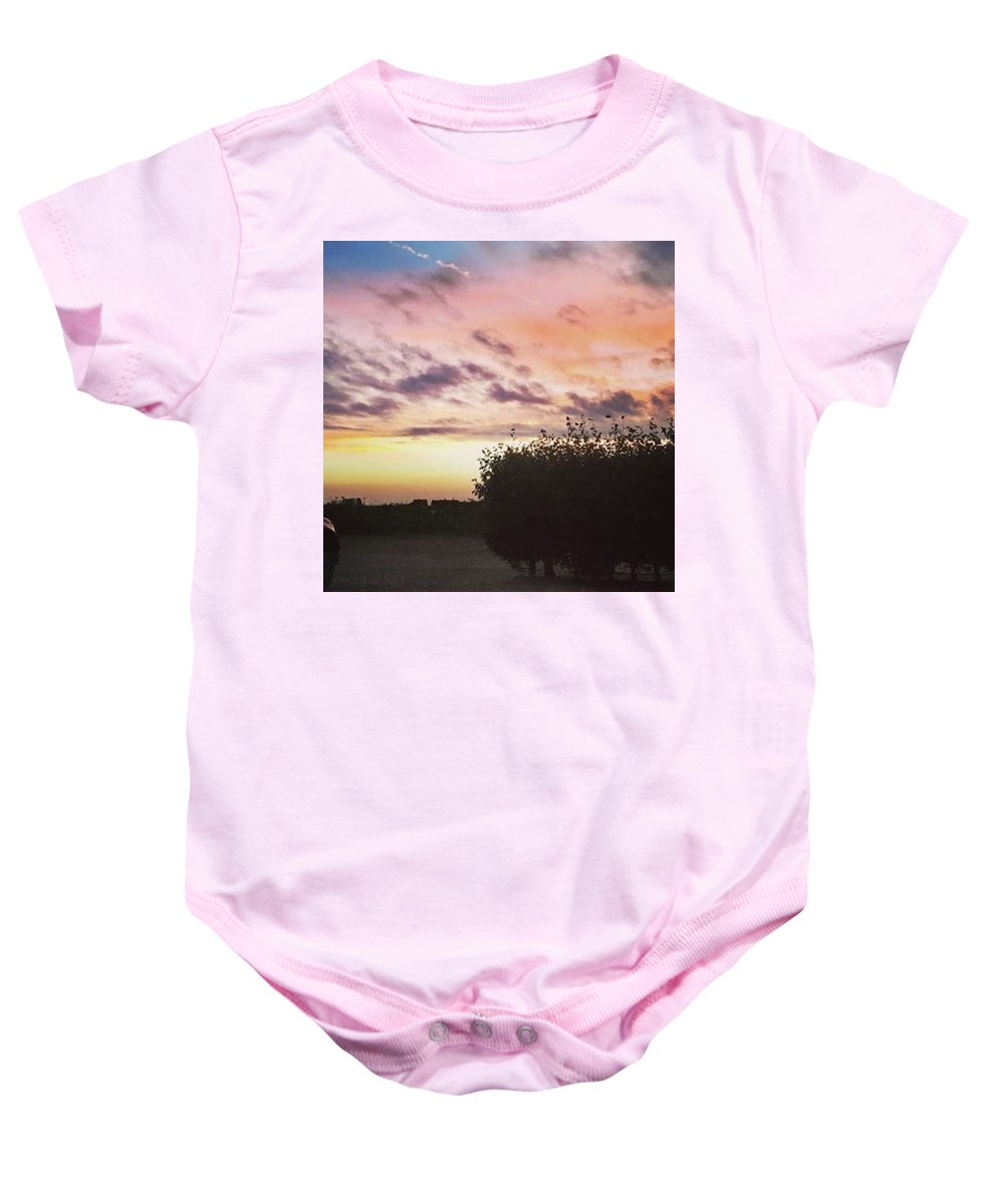 Norfolklife Baby Onesie featuring the photograph A Beautiful Morning Sky At 06:30 This by John Edwards