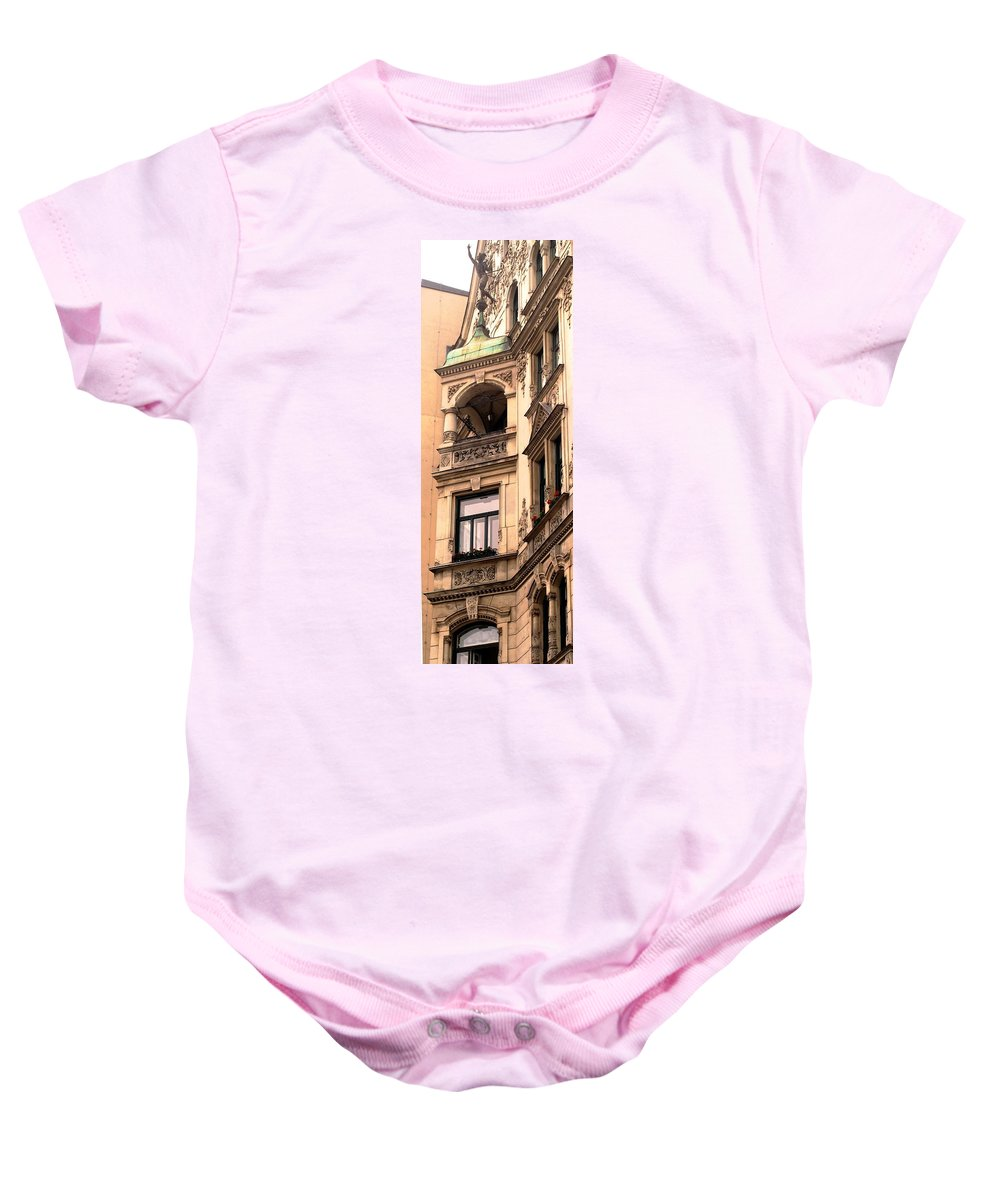 Vienna Baby Onesie featuring the photograph A Slice Of Old Vienna by Ian MacDonald