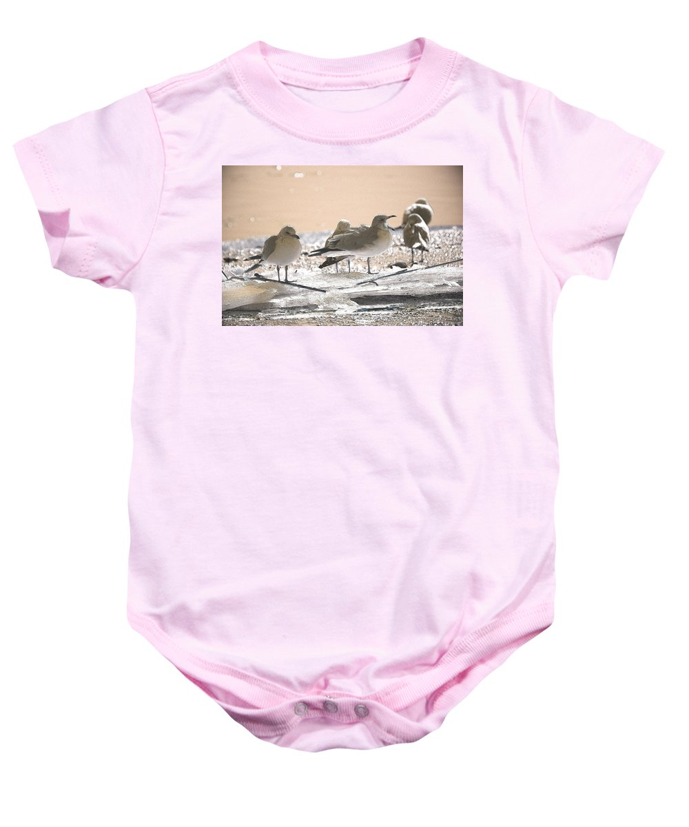 Coastal Baby Onesie featuring the photograph A Winter's Day Passing Bye by Karol Livote