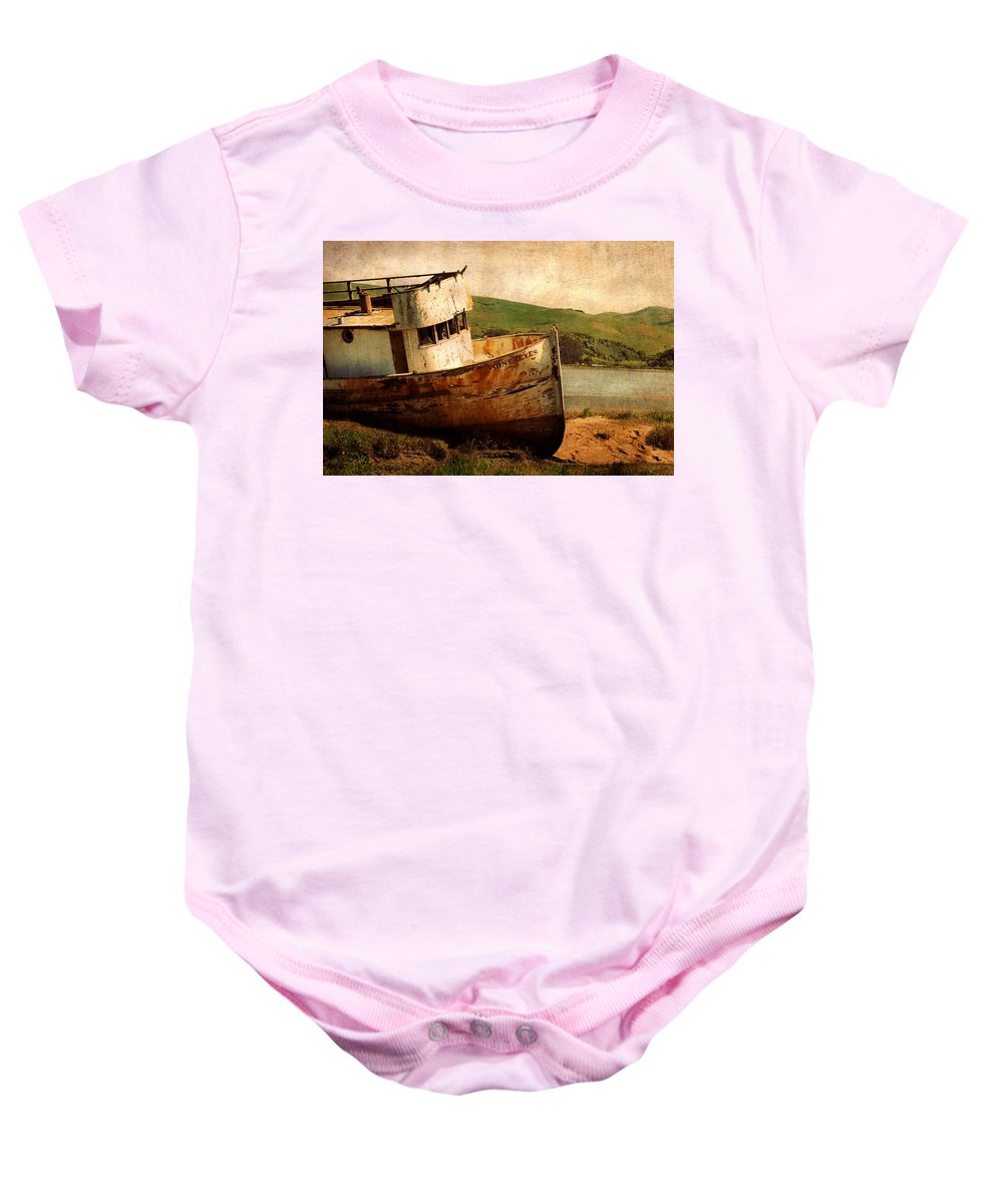 Shipwreck Baby Onesie featuring the photograph Abandoned by Renee Hong