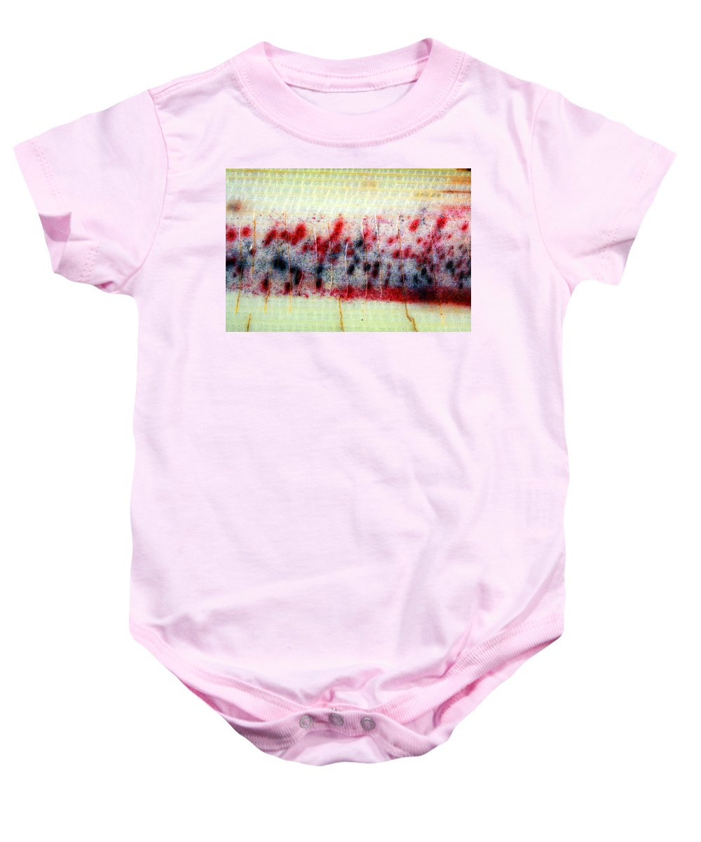 Banana Photographs Baby Onesie featuring the photograph Abstract Banana Trunk 3 by Jennifer Bright