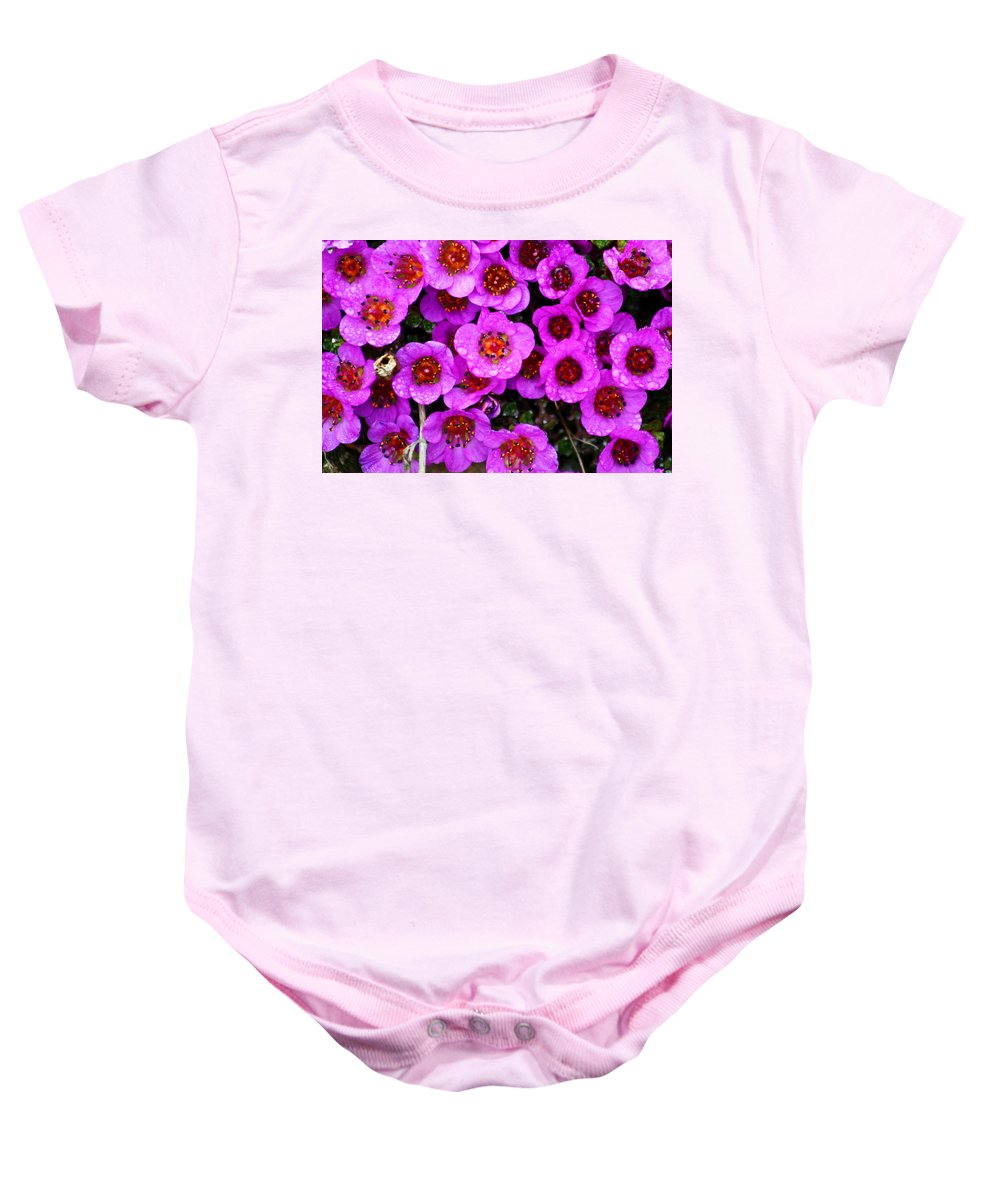 Flowers. Wild Flowers Baby Onesie featuring the photograph Alaskan Wild Flowers by Anthony Jones