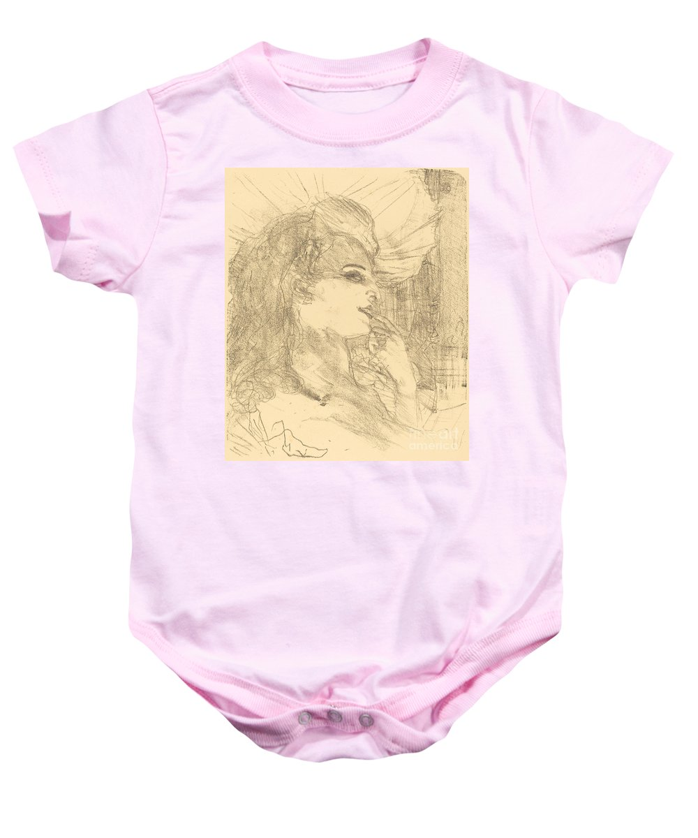 Baby Onesie featuring the drawing Anna Held by Henri De Toulouse-lautrec
